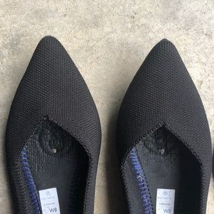 Rothy's Shoes - Rothy's The Point Black Flats Size 8 EUC